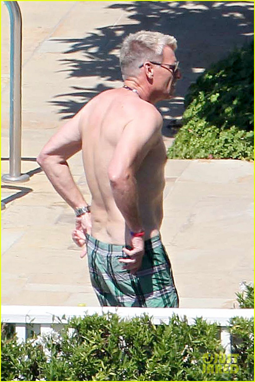 joe simpson hits the pool with a much younger man 29