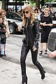 dakota johnson sexy leather outfit at chanel show 09