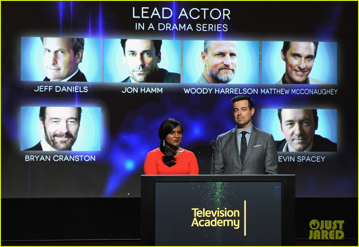 mindy kaling carson daly announce the emmy nominations 2014 07