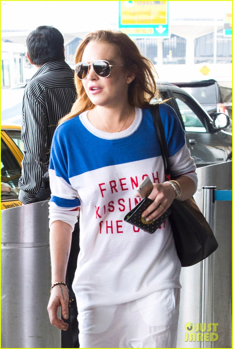 lindsay lohan is back in the states after a long stay in london 023147802