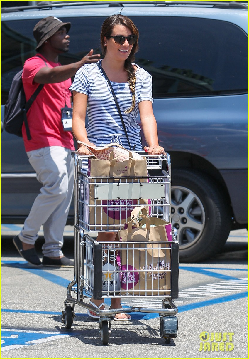 lea michele smiles wide after going public with new boyfriend 013149070