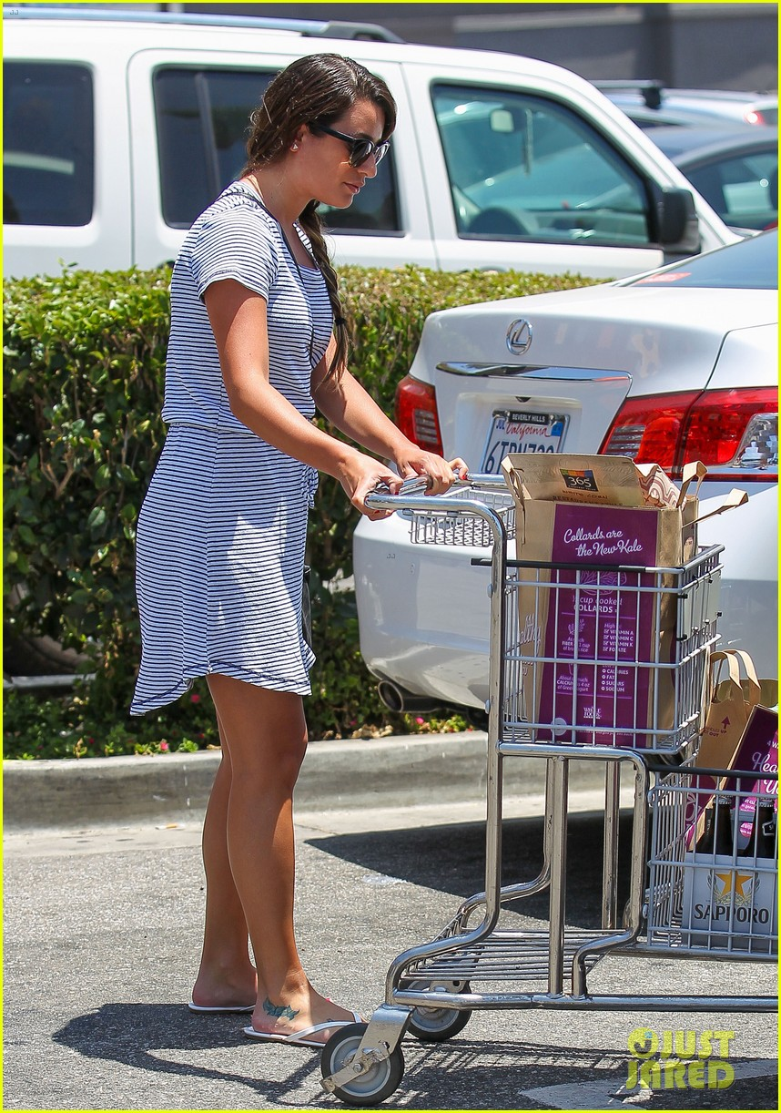 lea michele smiles wide after going public with new boyfriend 033149072