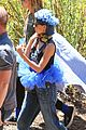 nicole richie rocks blue tutu overalls during hike 02