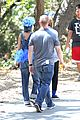 nicole richie rocks blue tutu overalls during hike 05