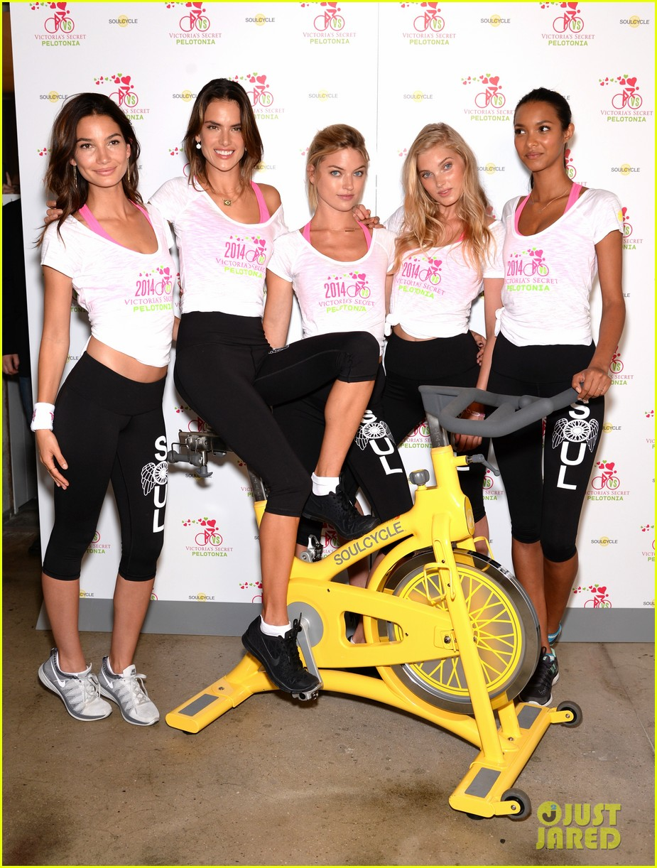 victorias secret angels go cycling for pelotonia 133152735