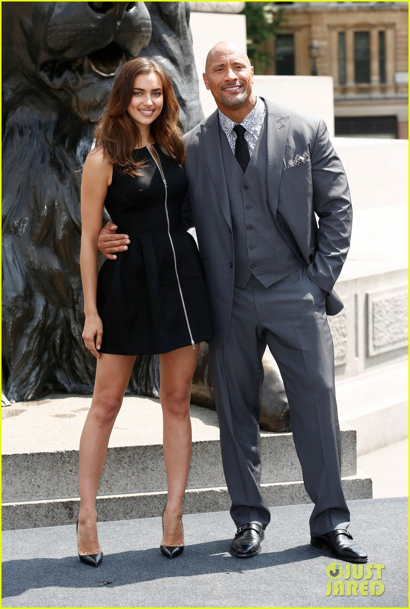 irina shayk dwayne johnson hercules photo call 013148274