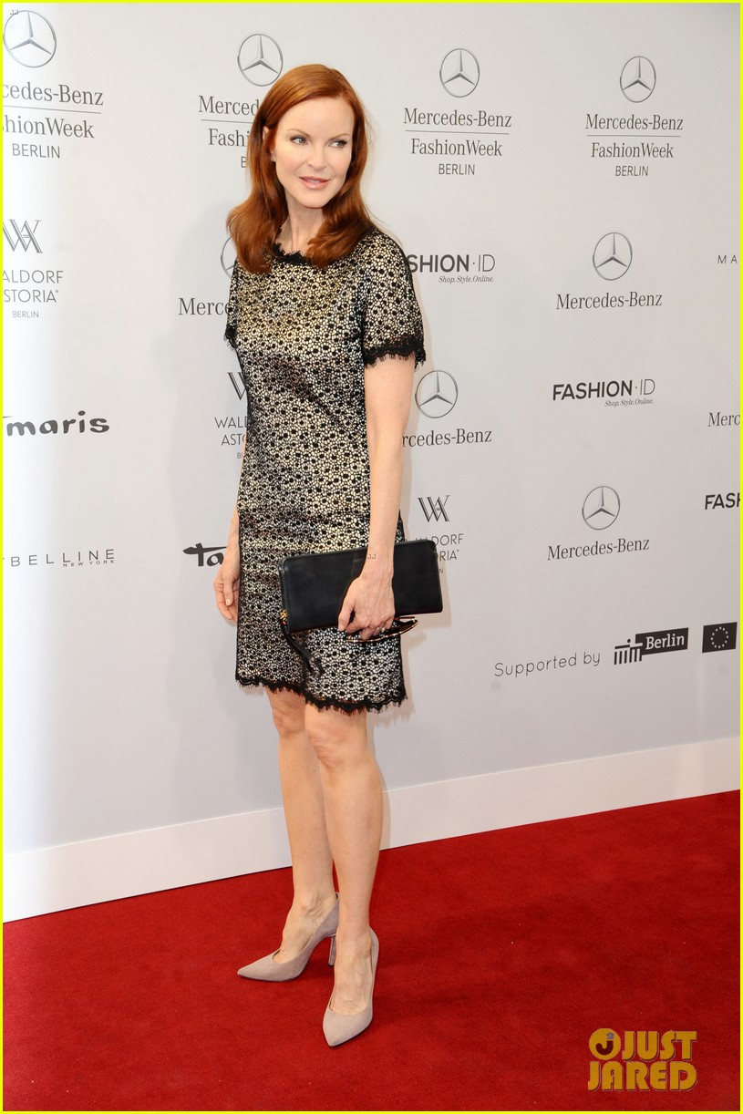 hilary swank marcia cross get dolled up for marc cain 11