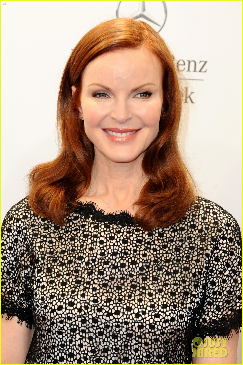 hilary swank marcia cross get dolled up for marc cain 12