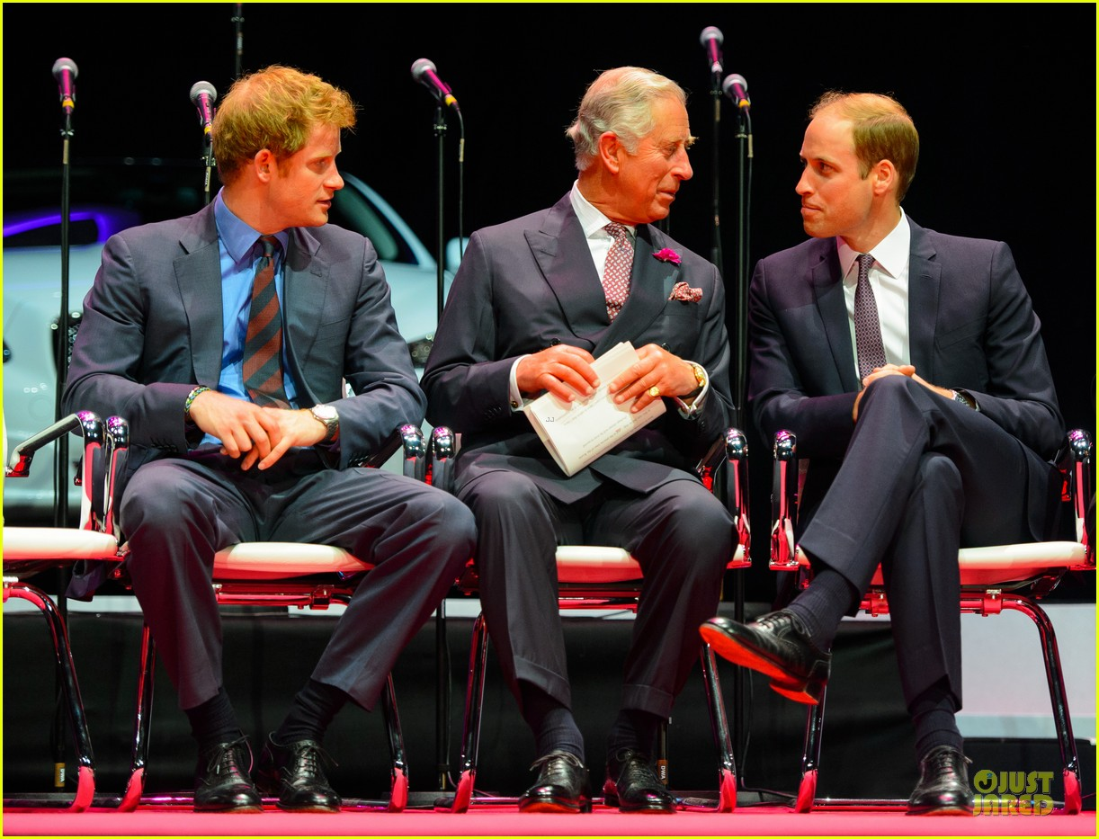 prince william harry accompany dad charles to business gala 07