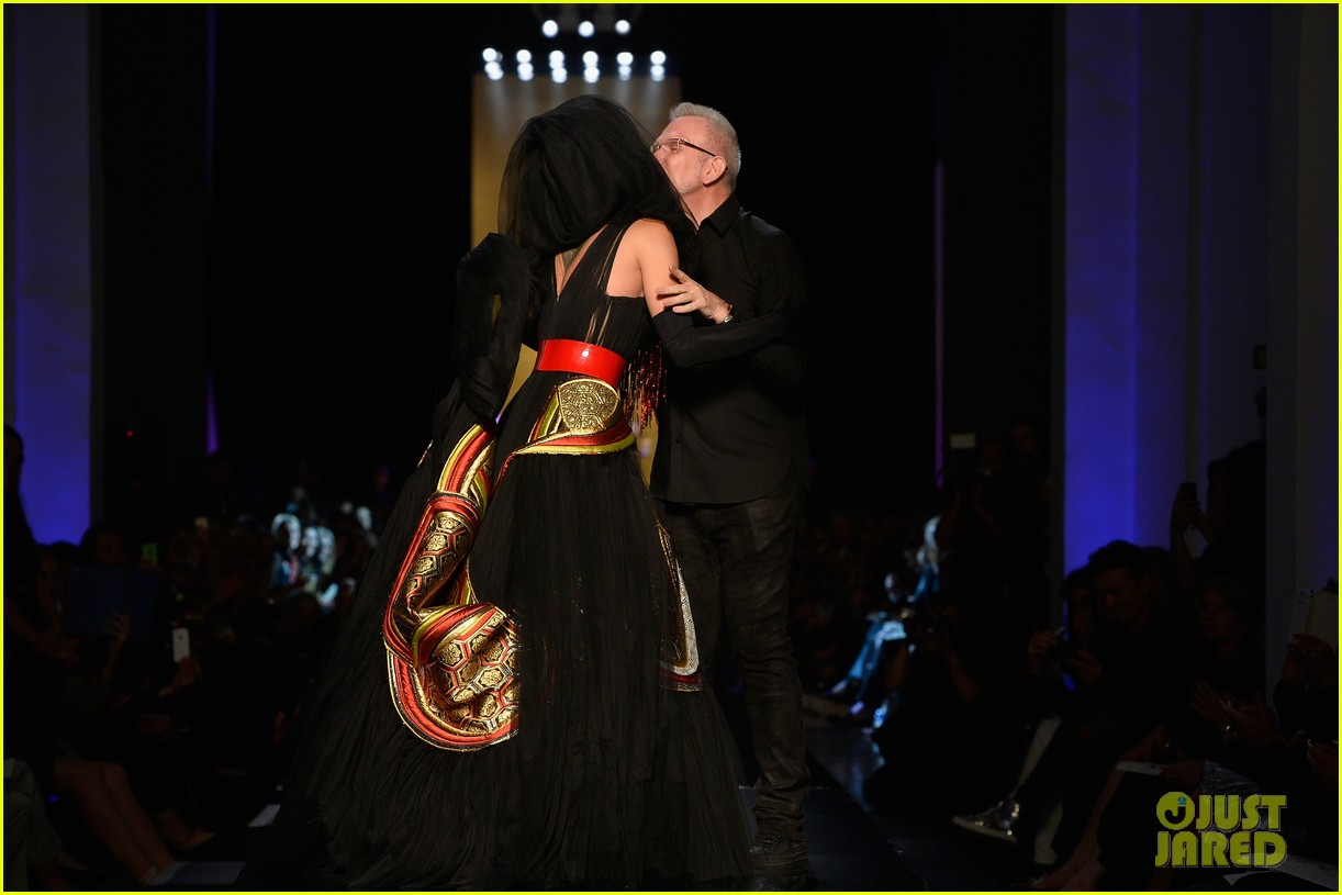 bearded drag queen conchita wurst walks jean paul gualtier show runway 10