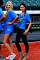 lily aldridge gigi hadid throw out first pitch at baseball game 25