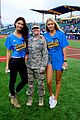 lily aldridge gigi hadid throw out first pitch at baseball game 33