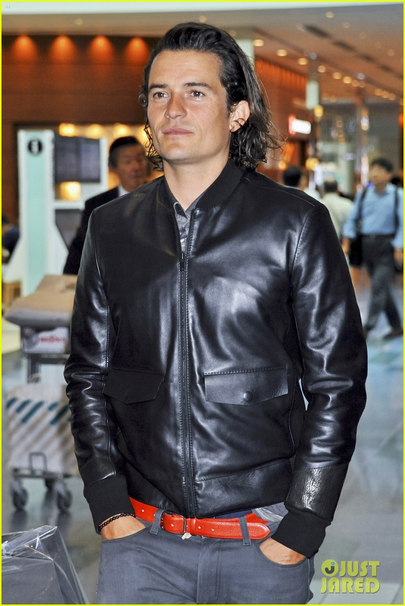 orlando bloom leather jacket sexy 053185473