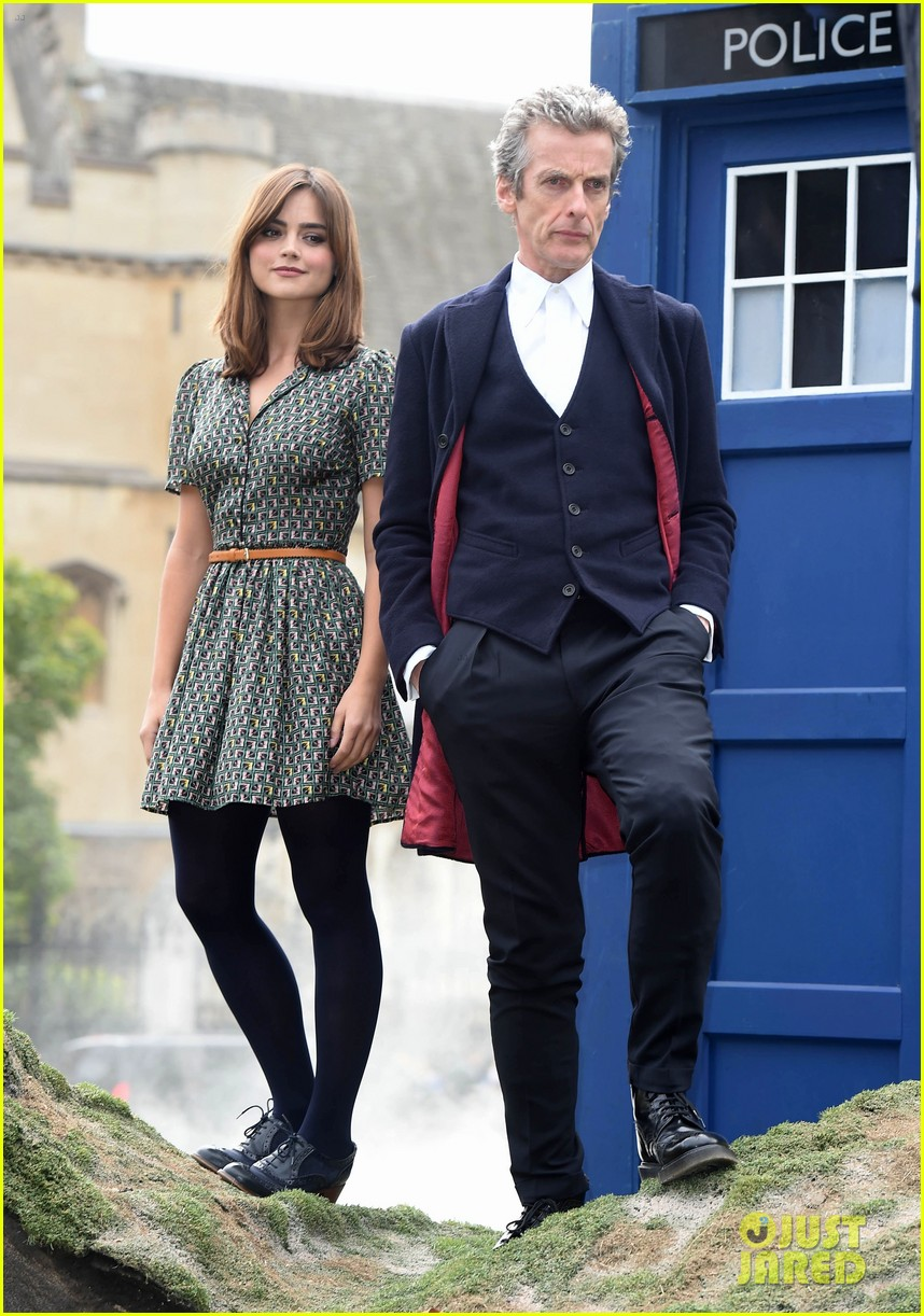 jenna coleman peter capaldi bbc itv photo call london 07