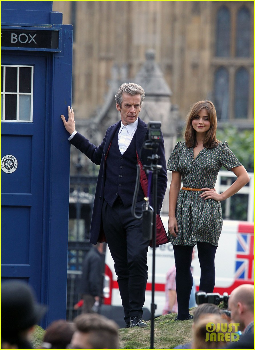 jenna coleman peter capaldi bbc itv photo call london 10