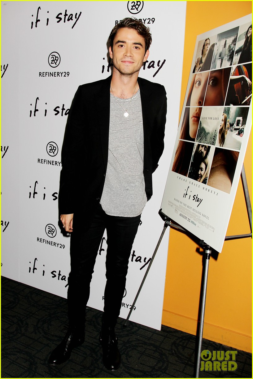 chloe moretz jamie blackley if i stay nyc premiere 02