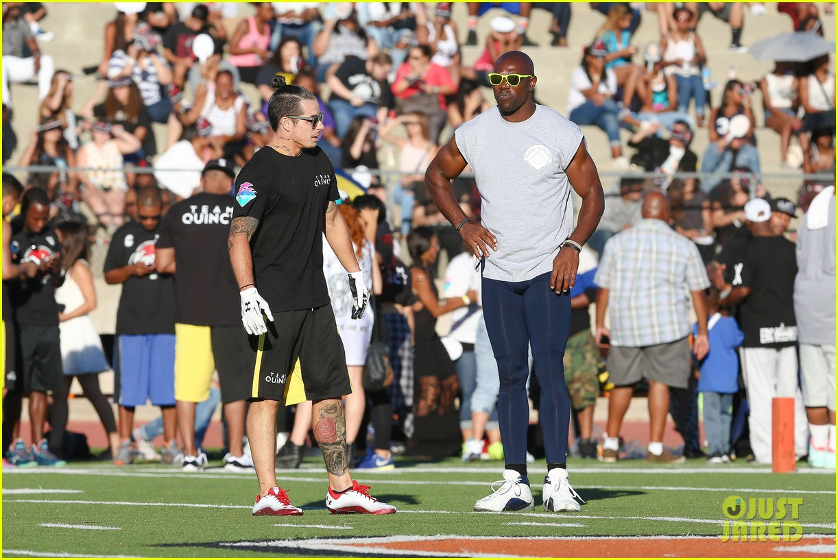 chris brown karrueche tran celebrity flag football game 203177910