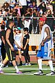 chris brown karrueche tran celebrity flag football game 08