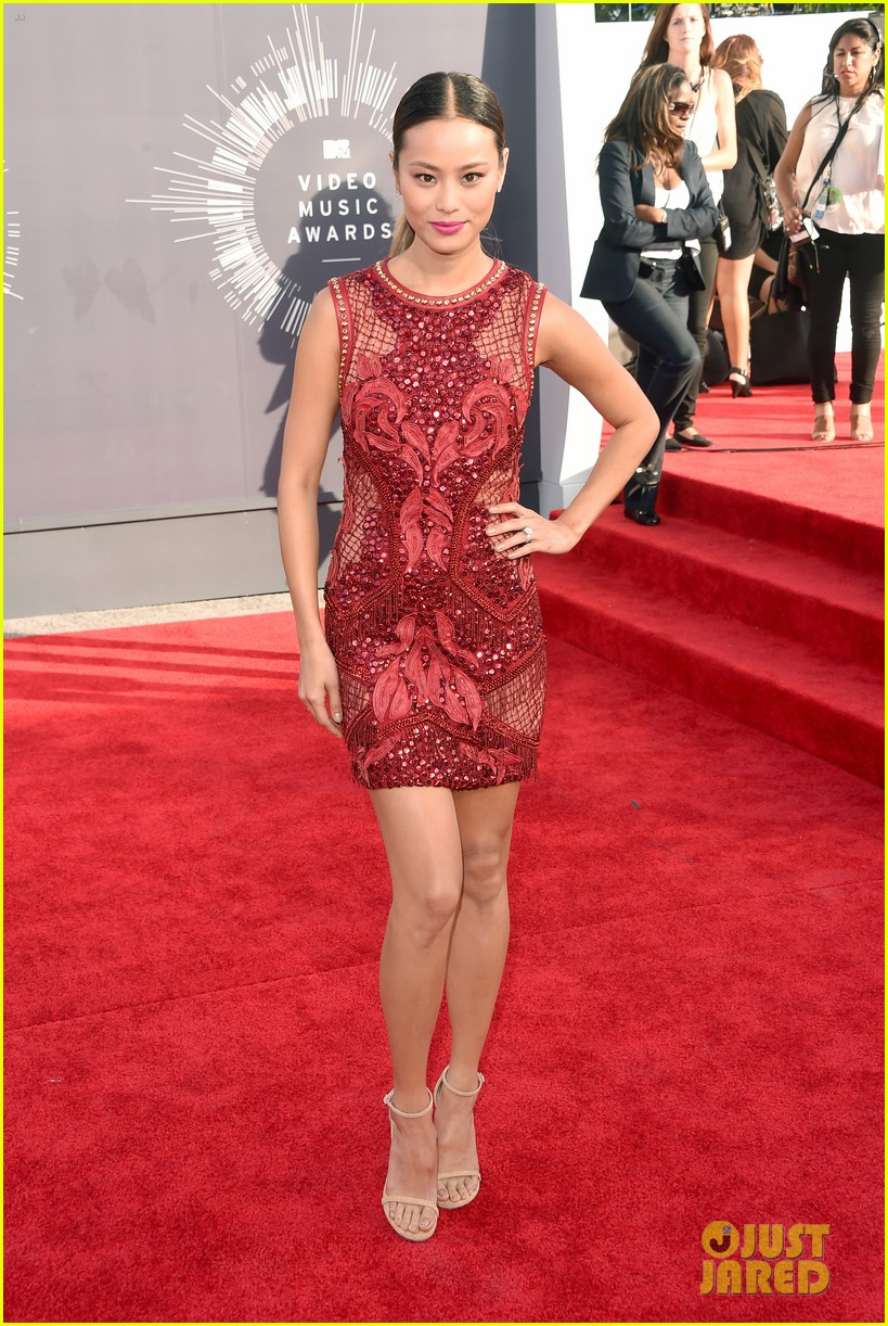 jamie chung lace red mtv vmas 043182546