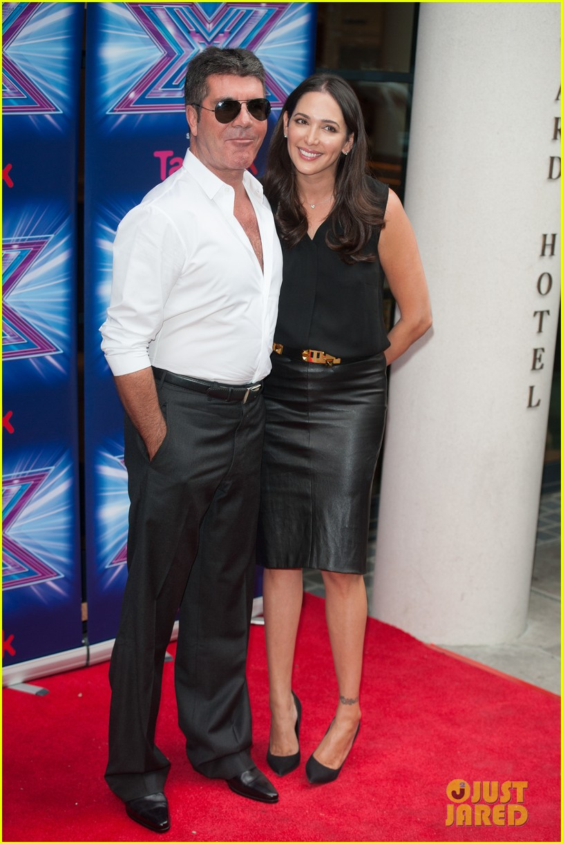 simon cowell girlfriend lauren silverman show some affection at x factor uk 073185329