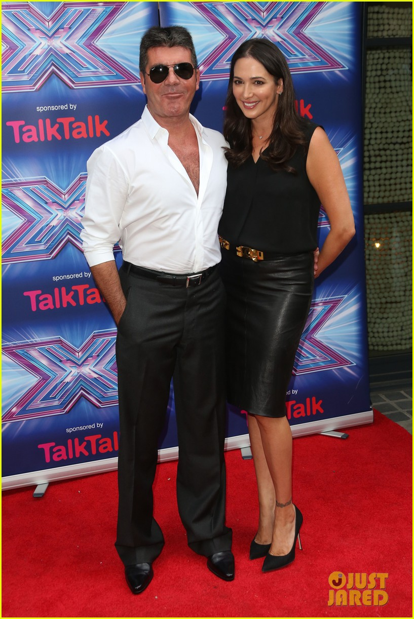 simon cowell girlfriend lauren silverman show some affection at x factor uk 123185334