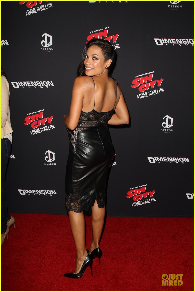 rosario dawson eva green sin city a dame to kill for premiere 16