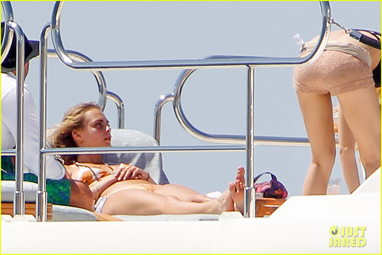 cara delevingne suki waterhouse bikini pepperoni pizza suit 153177468