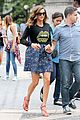 nina dobrev promotes lets be cops all over new york 11
