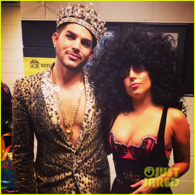 lady gaga surprises audience joins adam lambert queen on stage 013184607