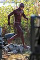 grant gustin shirtless flash set after als chall 09
