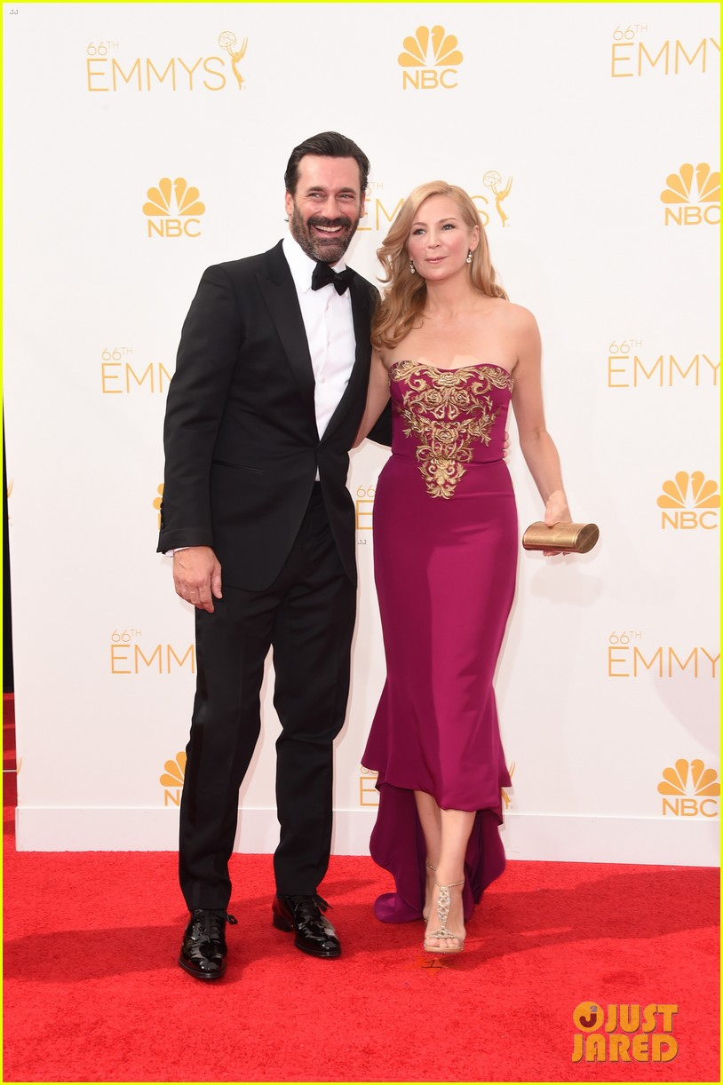 jon hamm jennifer westfeldt loving pair at emmys 2014 01