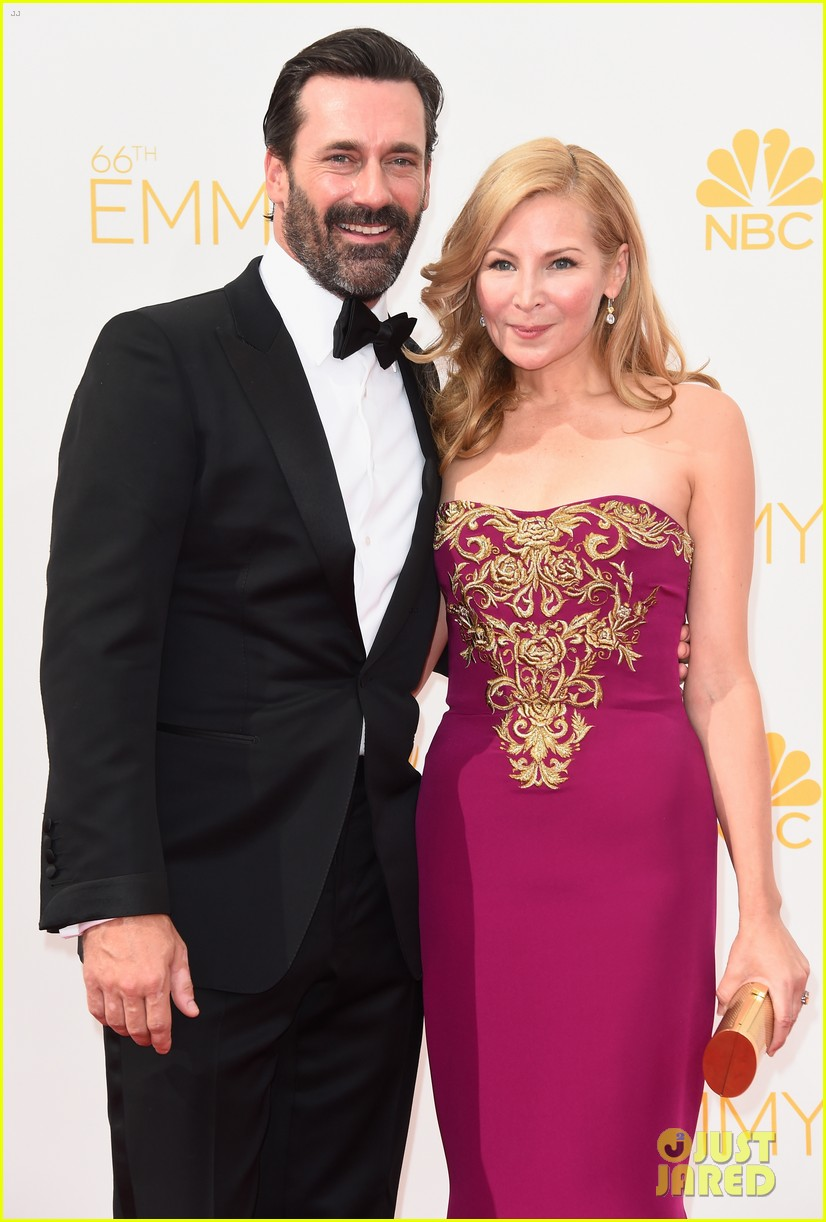 jon hamm jennifer westfeldt loving pair at emmys 2014 08