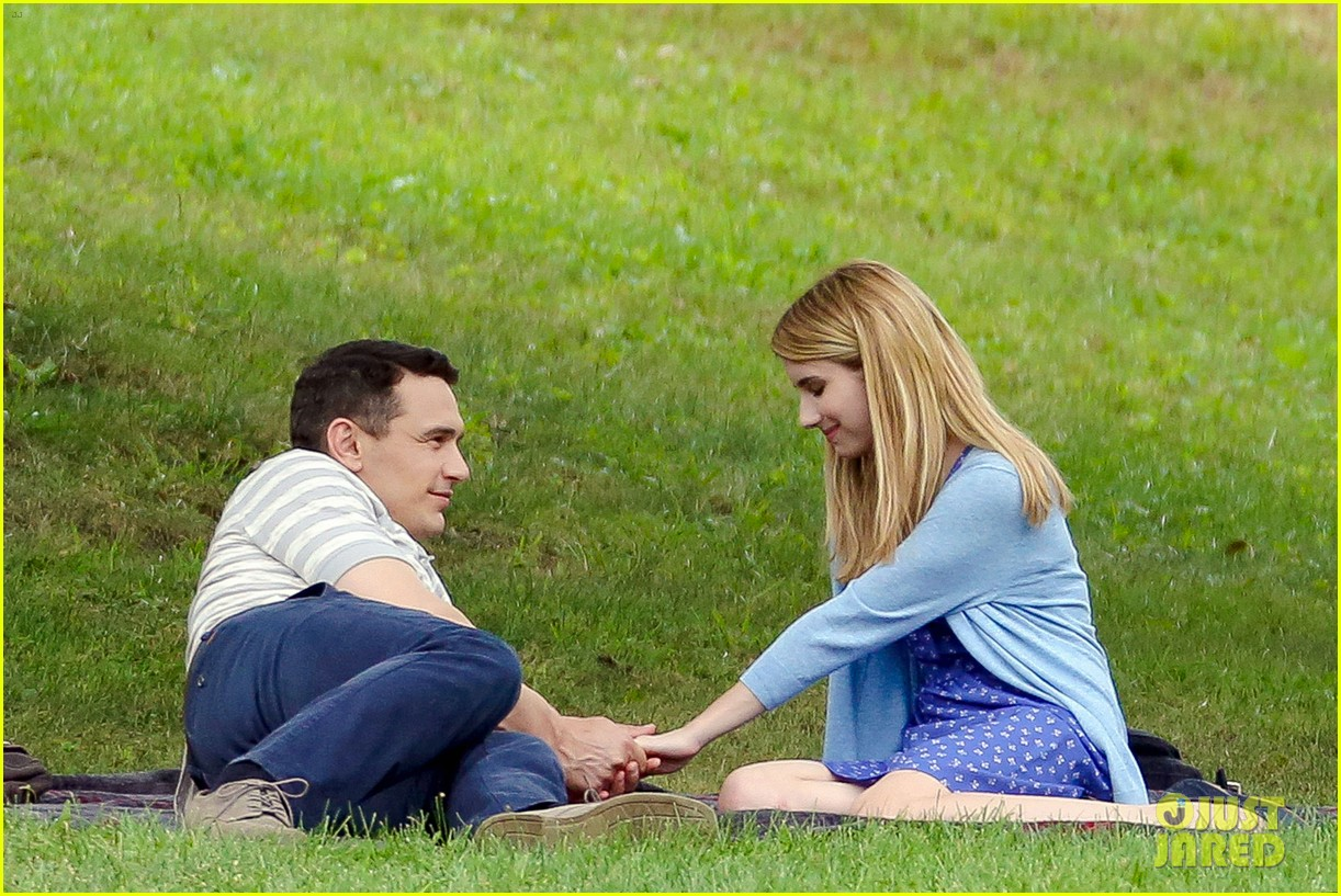 james franco emma roberts kiss park michael filming 013186996