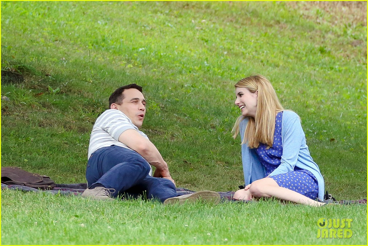 james franco emma roberts kiss park michael filming 133187008