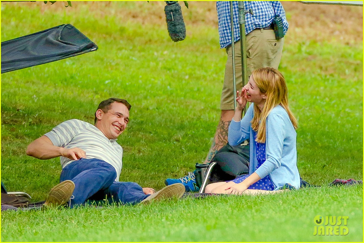 james franco emma roberts kiss park michael filming 23