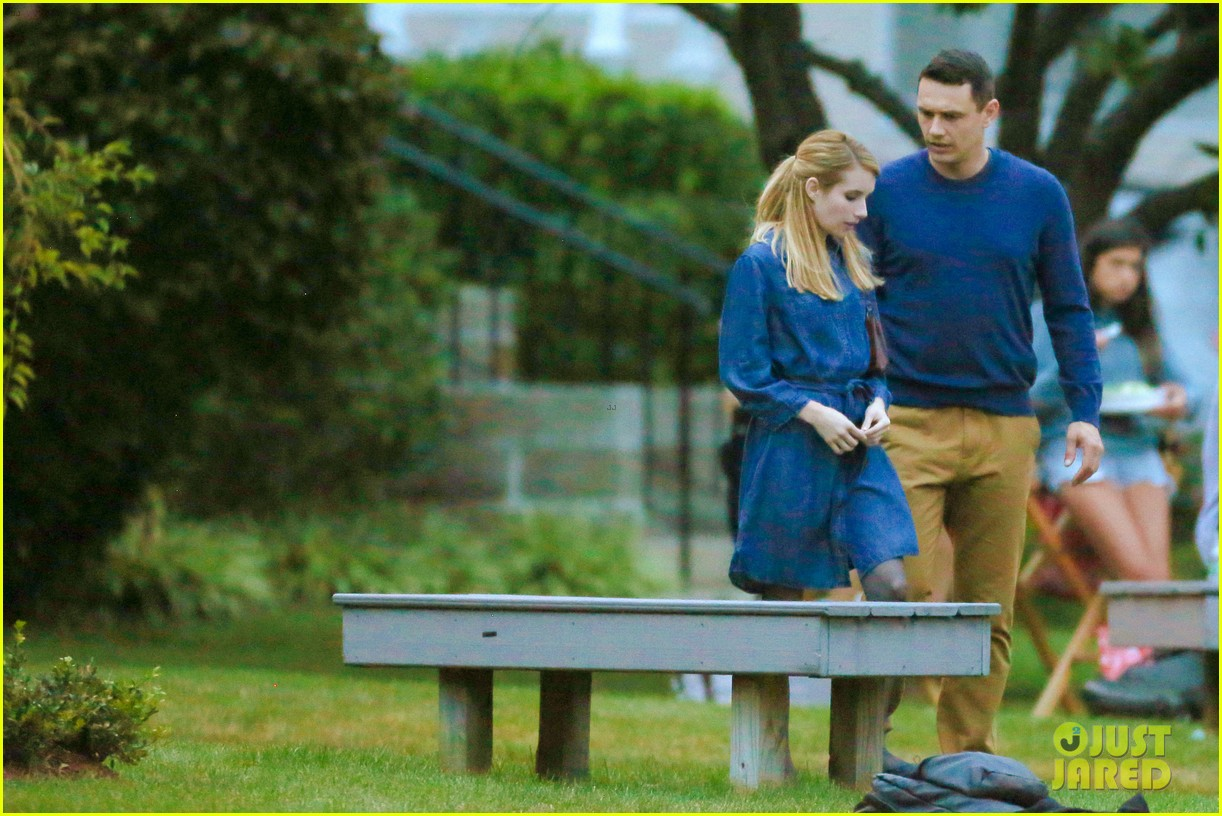 james franco emma roberts kiss park michael filming 31