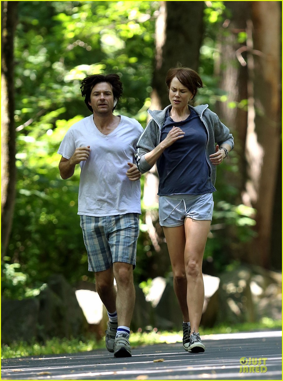 nicole kidman jason bateman hot sweaty during jog 103179236