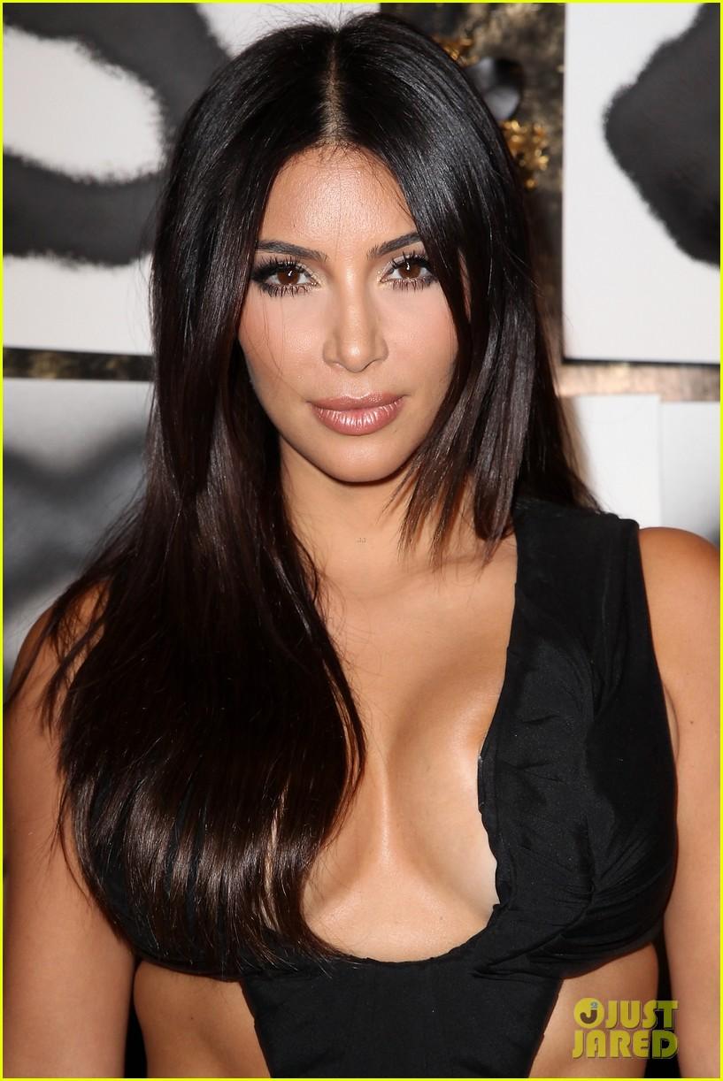 kim kardashian rocks super sexy revealing black jumpsuit 063180031
