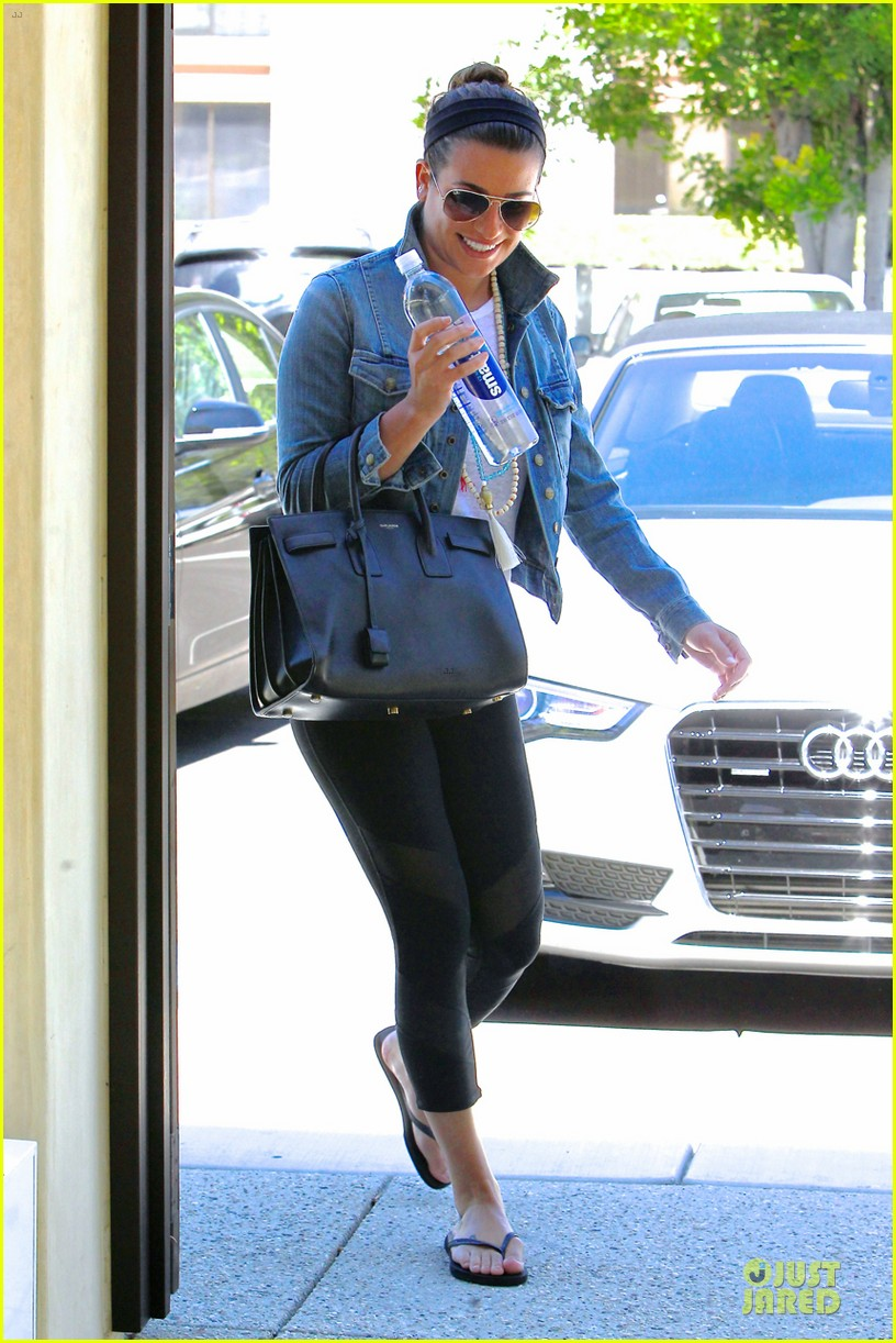 lea michele looks happy to start writing her second book 063177553