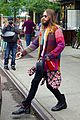 jared leto so colorful before his 30 seconds mars concert 05