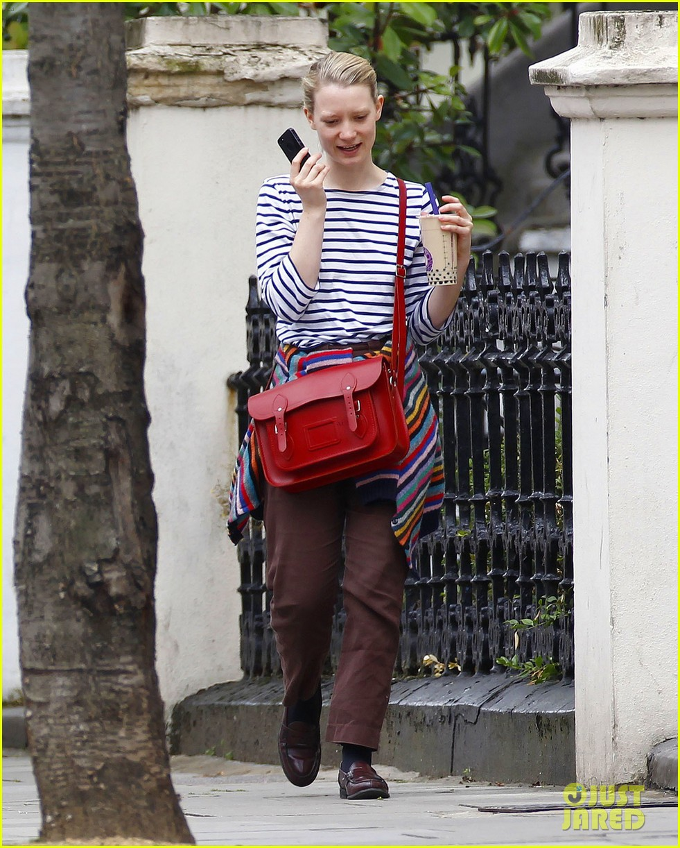 mia wasikowska funny phone call london coffee 12