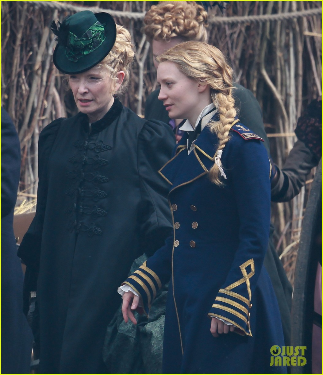 mia wasikowska captain blues coat looking glass 073178771