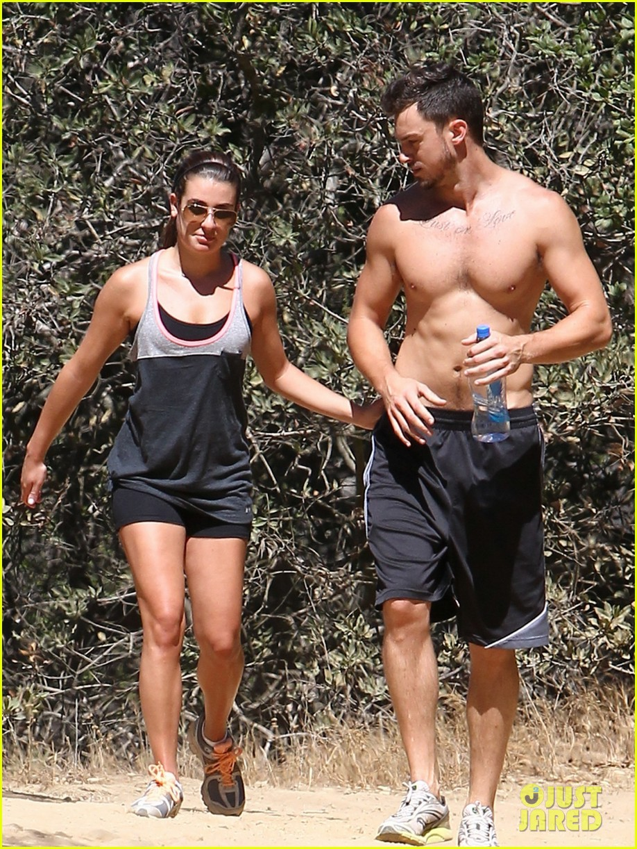 lea michele boyfriend matthew paetz goes shirtless hike 163181839