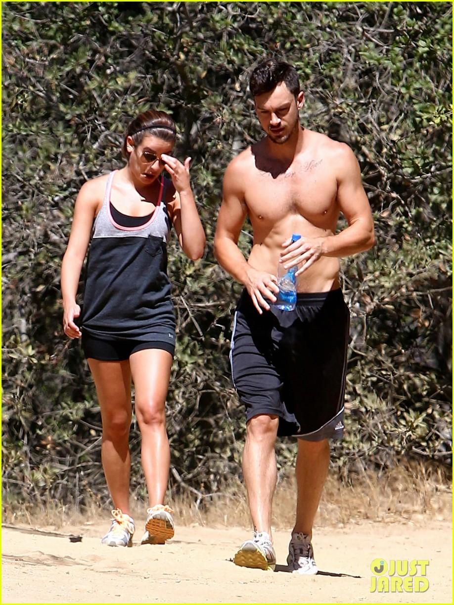 lea michele boyfriend matthew paetz goes shirtless hike 17