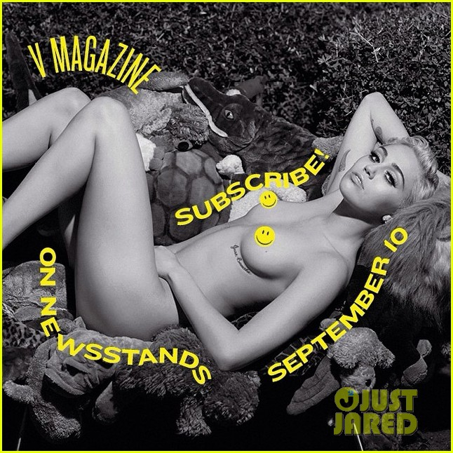 miley cyrus poses totally naked for v magazine 02