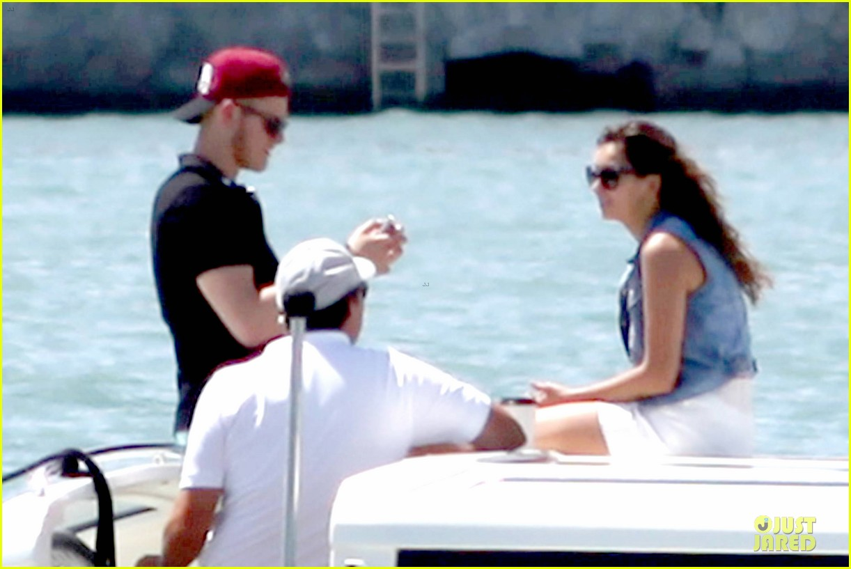 nina dobrev alexander ludwig hang out on yacht 063181239