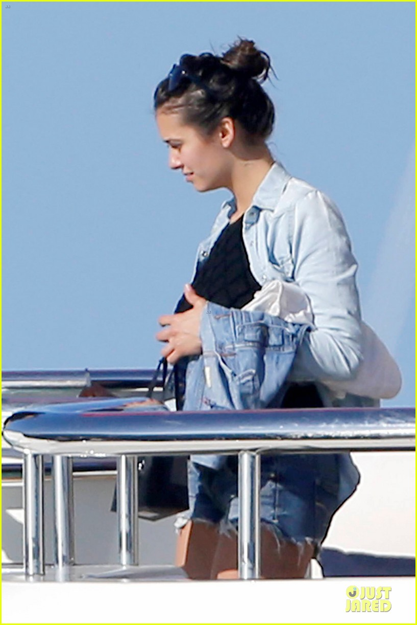 nina dobrev alexander ludwig hang out on yacht 113181244