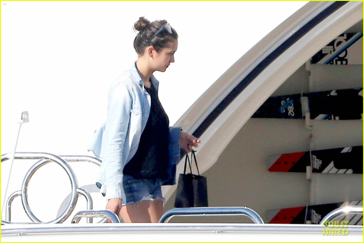 nina dobrev alexander ludwig hang out on yacht 12