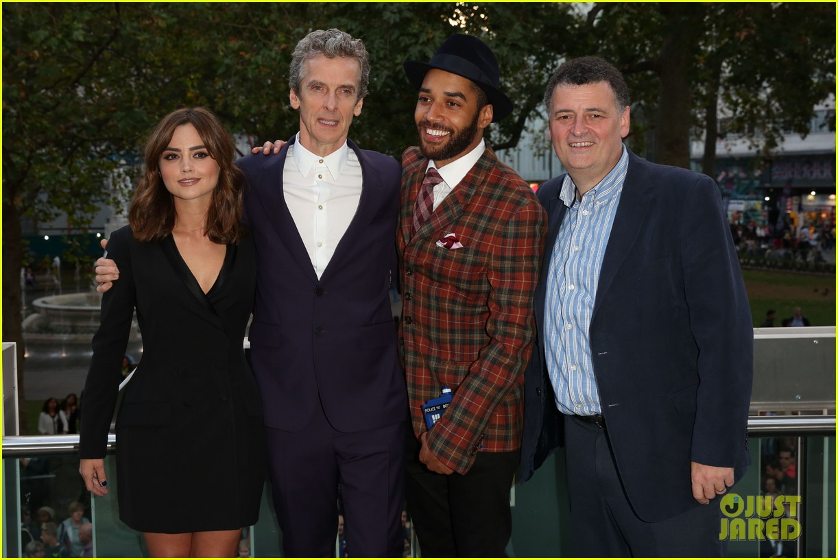 jenna coleman peter capaldi dr who london last premiere 09