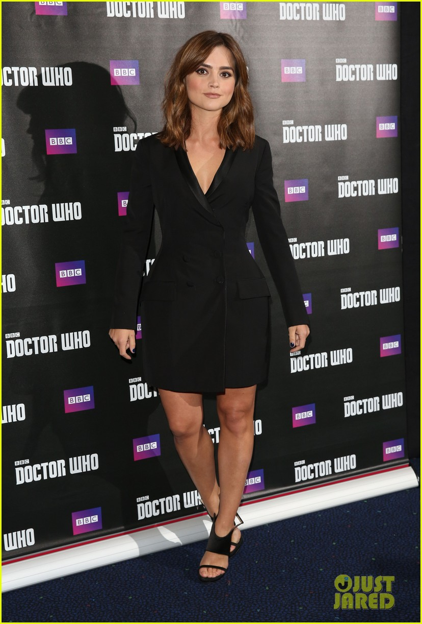 jenna coleman peter capaldi dr who london last premiere 183181700